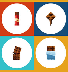 flat icon sweet set of sweet delicious bitter vector image