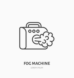 Fog smoke machine flat line icon special effects vector