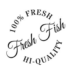 Fresh fish stamp vector