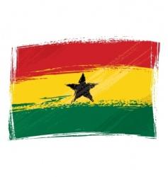 grunge ghana flag vector image vector image