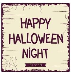 Halloween postcard design vector image vector image