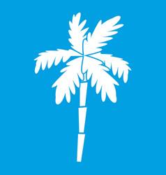 Palm tree icon white vector