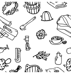 Pattern of sauna icons vector