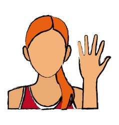Pretty woman sport character casual vector