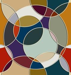 Seamless texture of circular items vector