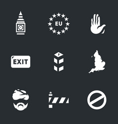 Set of england brexit icons vector