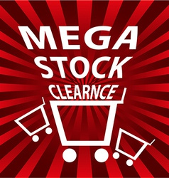 Stock clearance sale background vector image vector image