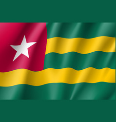 Togo realistic flag vector