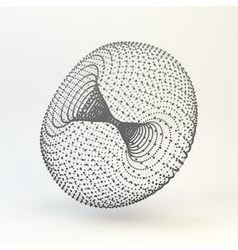 Torus Molecular lattice Connection structure 3d vector image vector image