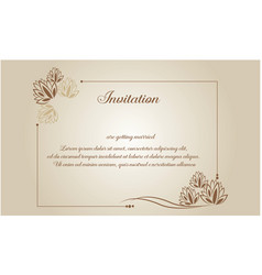 Vintage wedding card style collection vector