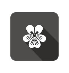 Viola violet nasturtium pansy flower icons vector
