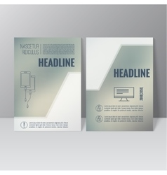 Brochure annual report vector