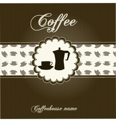 The concept of coffeehouse menu vector
