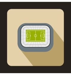 Large football stadium icon flat style vector