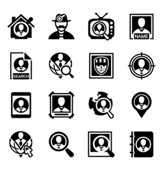People search icon set vector
