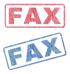 Fax textile stamps vector