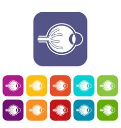 Human eyeball icons set vector