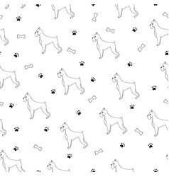 interesting seamless pattern with cartoon cute vector image