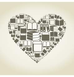 Book heart vector image