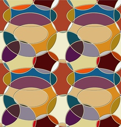 Seamless pattern of circular items vector image