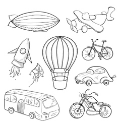Sketches means of transport vector