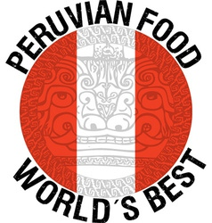 Peruvian food vector image