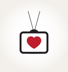 Love heart television vector