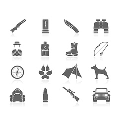 Black icons - hunting vector
