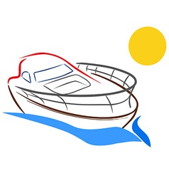 Yacht sketch vector