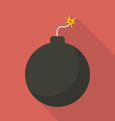 Bomb with sparkle vector