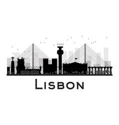 Lisbon silhouette vector image