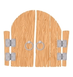 Wooden cartoon gate vector