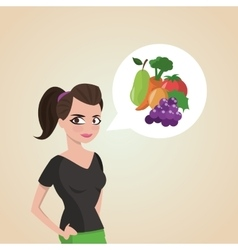 Healthy food design organic and natural concept vector
