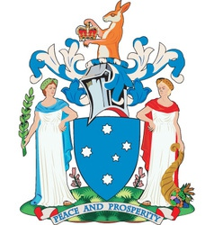 Victoria coat-of-arms vector
