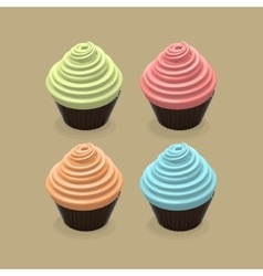 Food of cupcakes vector