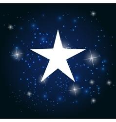Night Star Sky Background vector image