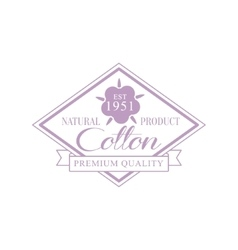 Cotton violet product logo design vector