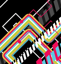 abstract disco art vector image vector image