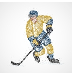 abstraction hockey ice puck vector image vector image