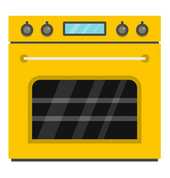Big gas oven icon cartoon style vector