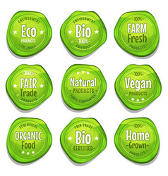 Bio and eco seal stamper vector