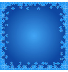 Blue transparent puzzles pieces - jigsaw vector
