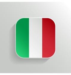 Button - italy flag icon vector