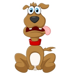 Cartoon dog posing vector image vector image