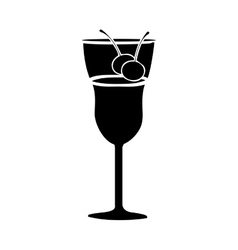 cocktail glass icon image vector image