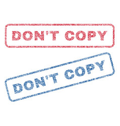 Don t copy textile stamps vector