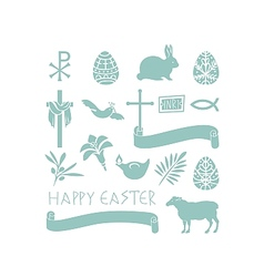Easter Symbols vector image vector image