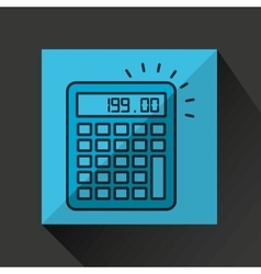 Financial calculator money economy icon vector