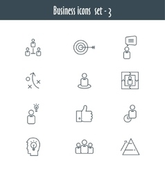 Flat line icons set of business meeting vector image vector image