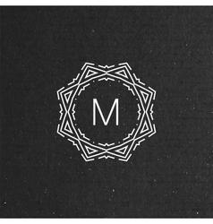floral monogram vector image vector image